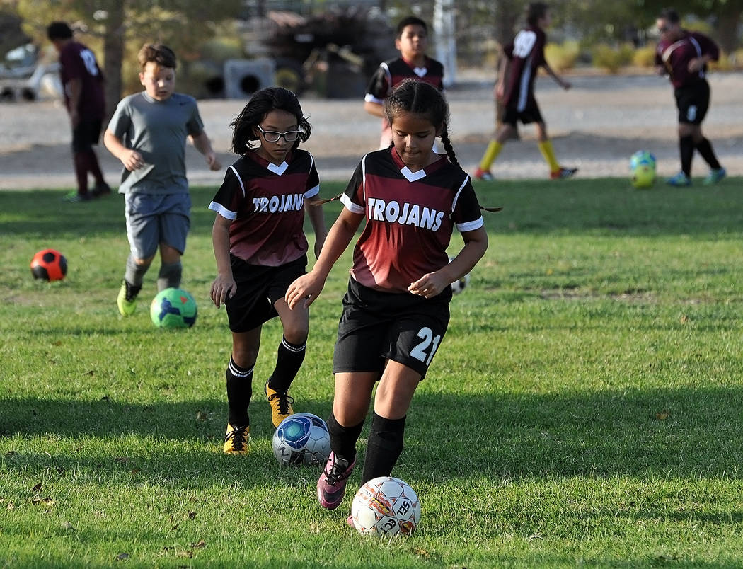 Horace Langford Jr./Pahrump Valley Times The Junior Trojans Soccer Club has expanded this season and now includes more than 100 young players.