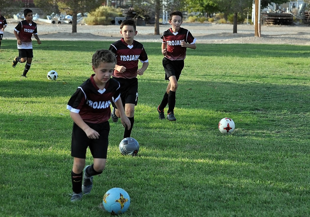 Horace Langford Jr./Pahrump Valley Times Junior Trojans Soccer Club boys teams are affiliated with the Nevada South Youth Soccer League, while girls teams are affiliated with the Silver State Socc ...
