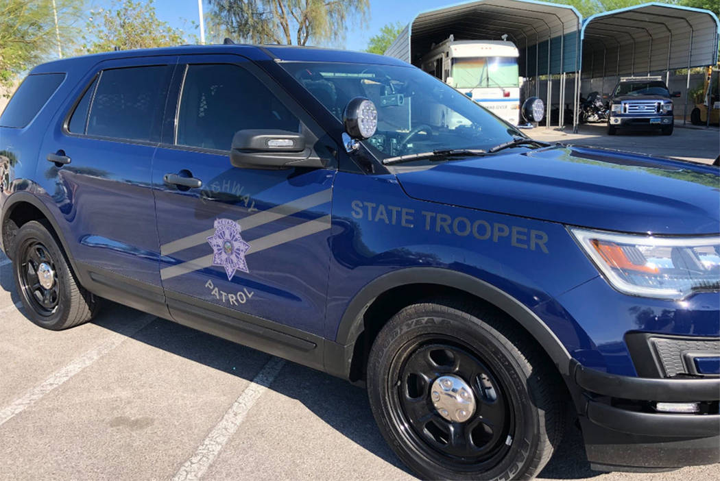 "The Nevada Highway Patrol Southern Command is rolling out ""ghost"" vehicles to some troopers working the graveyard shift. The markings on the vehicles are barely visible until a direct light source ..."