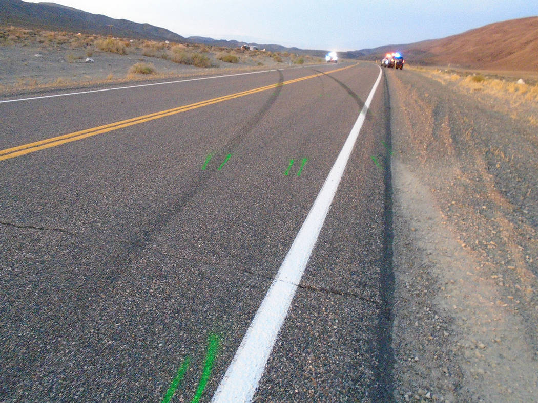 Nevada Highway Patrol The July 25 crash occurred about 16 miles west of Coaldale Junction along eastbound U.S Highway 6, the NHP said.