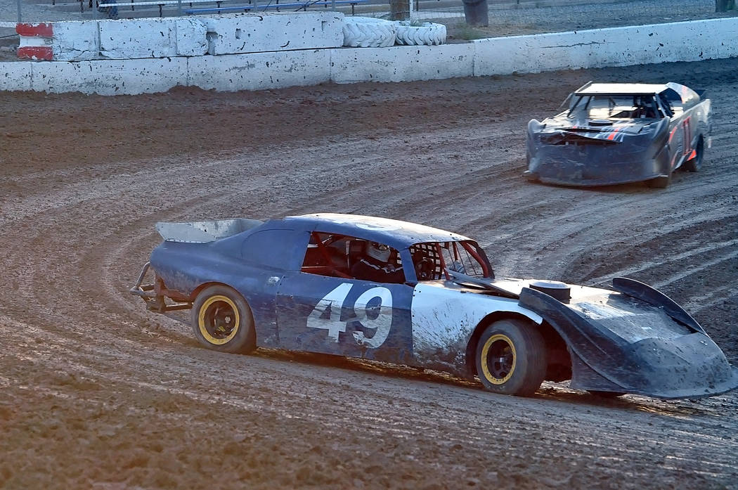 Horace Langford Jr./Pahrump Valley Times Dale Daffer in car No. 49 sits in fifth place in the Super Stock division at Pahrump Valley Speedway.