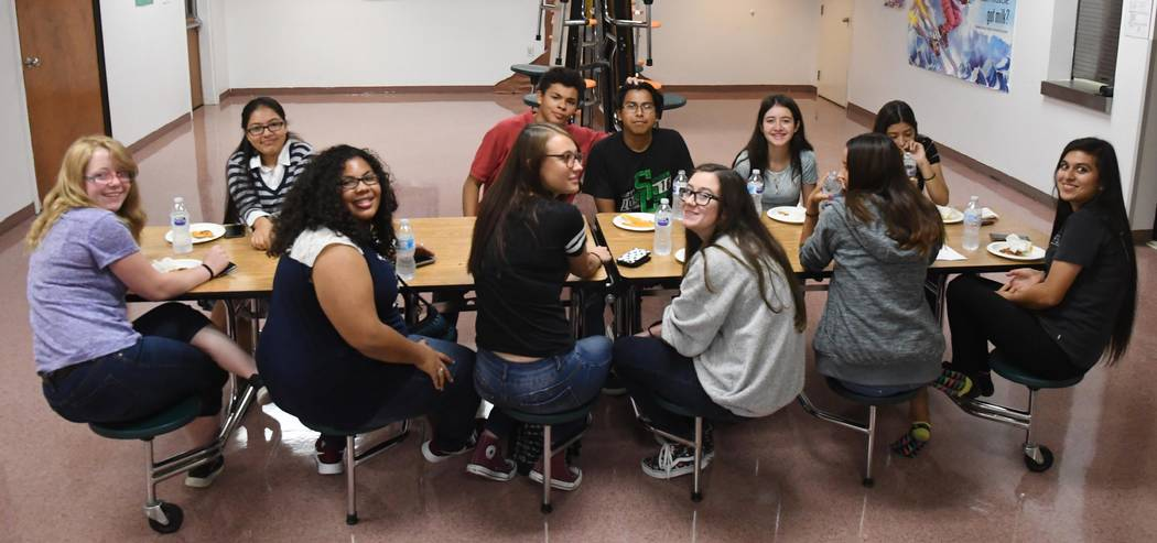 Richard Stephens / Special to the Pahrump Valley Times The Beatty High School student council enjoying a working lunch in the school cafeteria August 1 as they planned out activities and projects ...