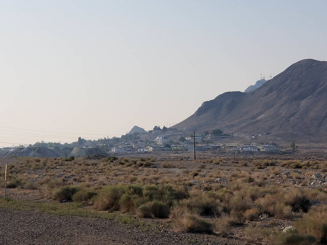 Nancy Whipperman/Pahrump Valley Times National Weather Service Meteorologist Alex Boothe noted that communities north of Pahrump like Beatty and Tonopah will likely see air quality alerts, due to ...