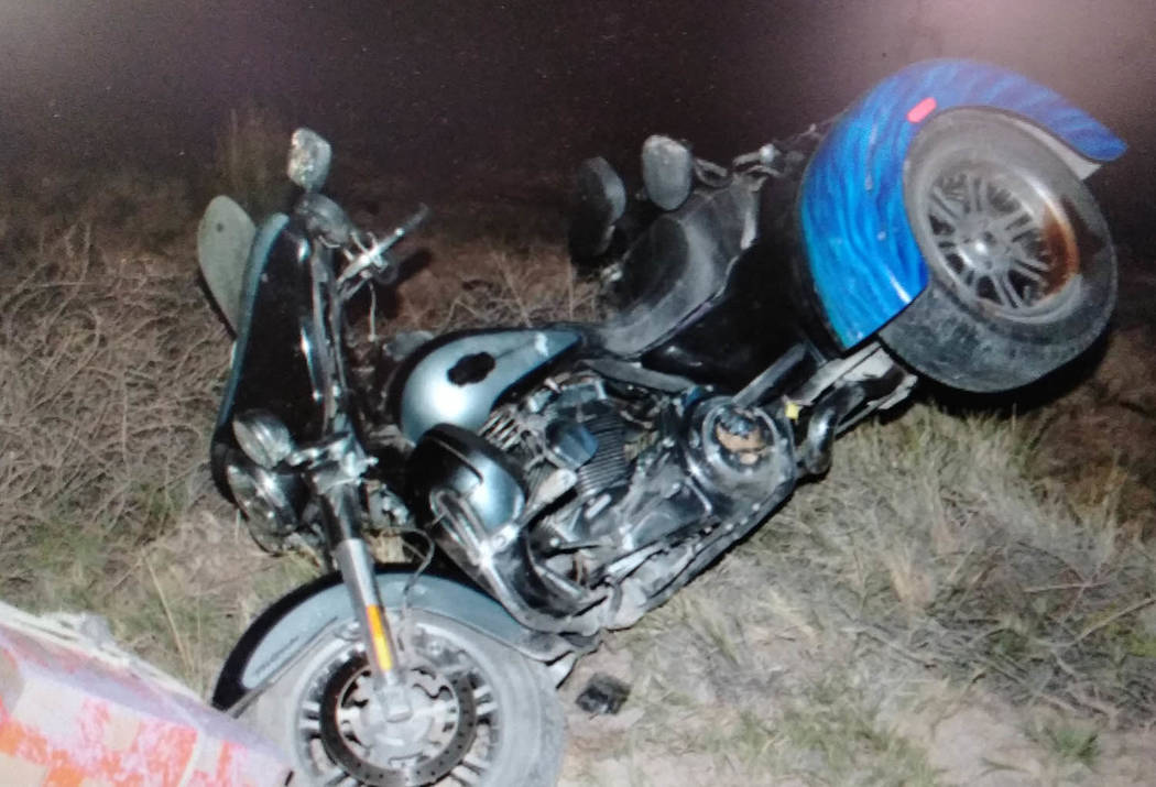 Special to the Pahrump Valley Times Gordon Felix, 73, of Goldfield, was pronounced dead at the after crashing his 2013 Harley Davidson three-wheeled trike northbound on US 95 in Nye County near mi ...