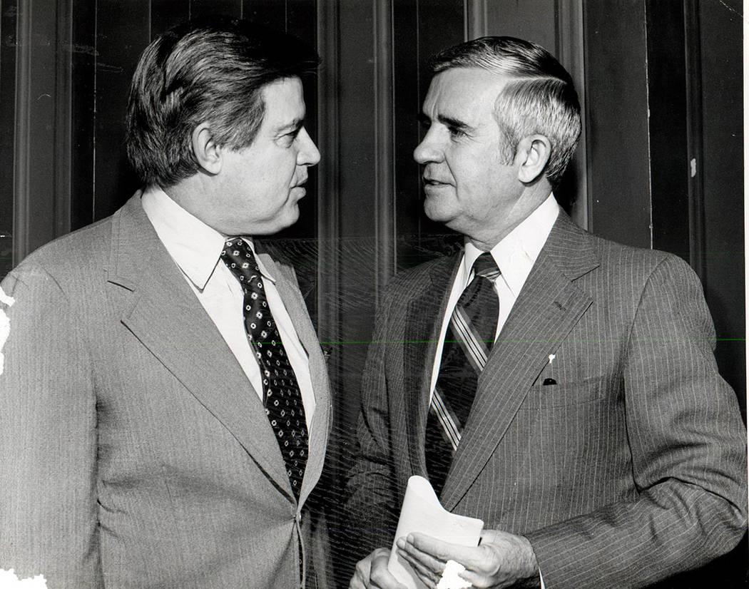 Paul Laxalt and Senator Frank Church Idaho (File photo/Las Vegas Review-Journal )