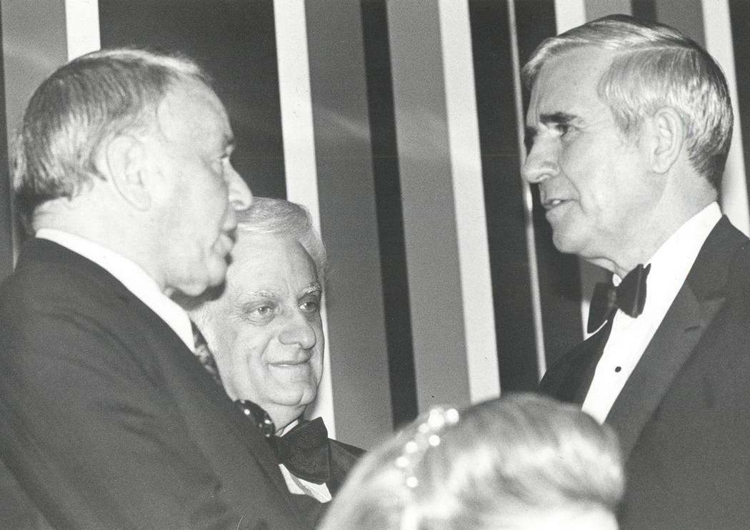 Frank SInatra, Harry Wald and Paul Laxalt (File photo/Las Vegas Review-Journal )
