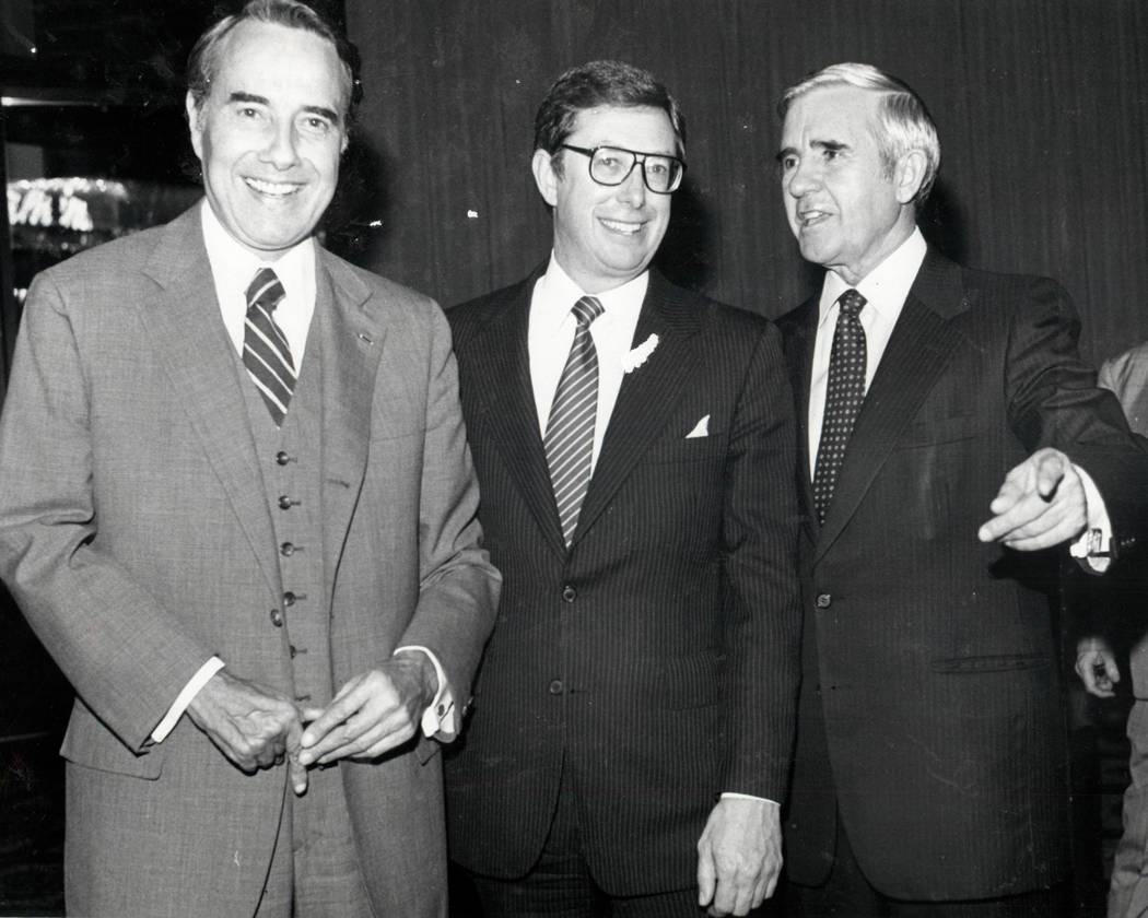 Bob Dole, Robert List and Paul Laxalt in 1982. (Las Vegas Review-Journal file photo)
