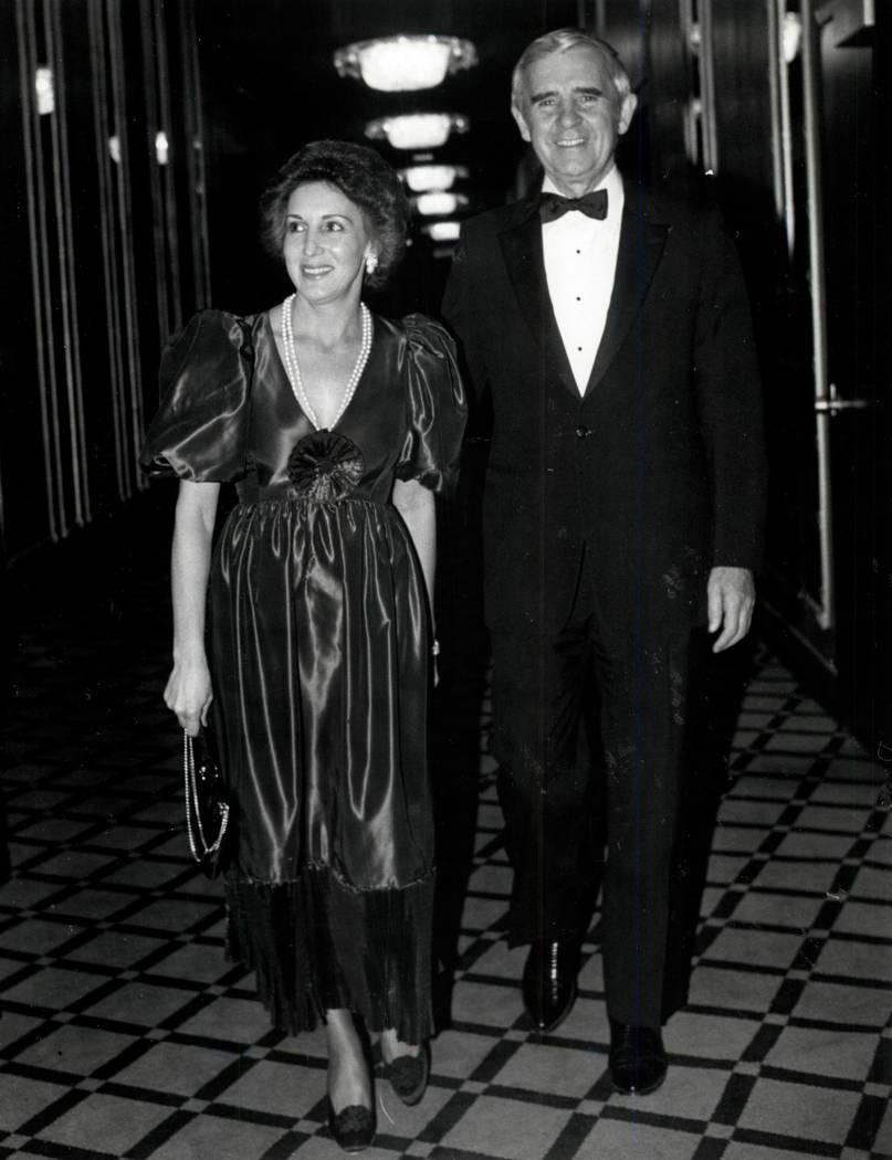 Carol and Paul Laxalt in 1982. (Las Vegas Review-Journal file photo)