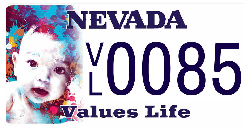 "Special to the Pahrump Valley Times The new Nevada license plate design, labeled, ""Nevada Values Life"" is the latest of several dozen Silver State specialty plates issued by the DMV over the y ..."
