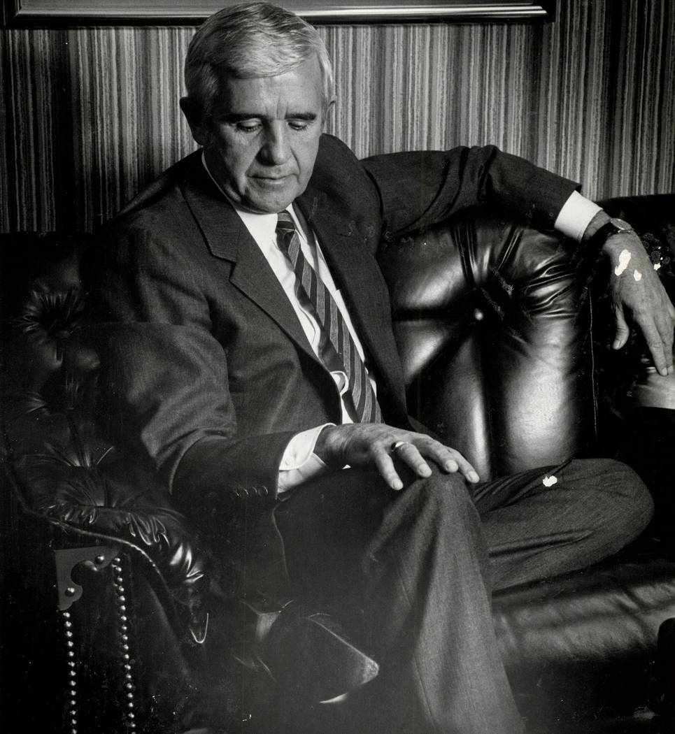 Scott Henry/Las Vegas Review-Journal Paul Laxalt as shown in a 1984 photo. Laxalt died earlier this week at age 96.