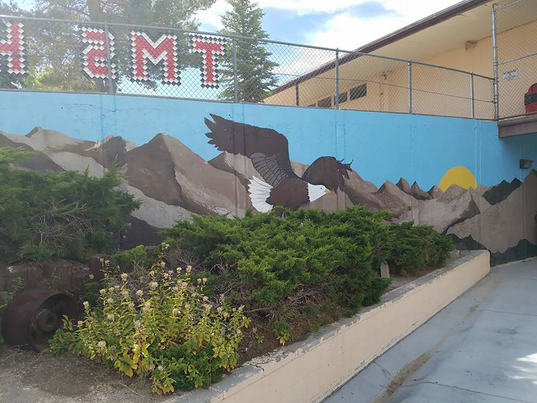 David Jacobs/Times-Bonanza A mural is on display outside Tonopah Elementary and Middle School. The new school year is about to get underway.