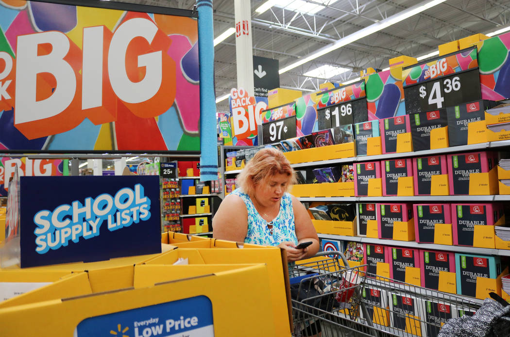 Madelyn Reese/Las Vegas Review-Journal The top destinations for consumers shopping for back-to-school item include a variety of outlets, including stores and online retailers.