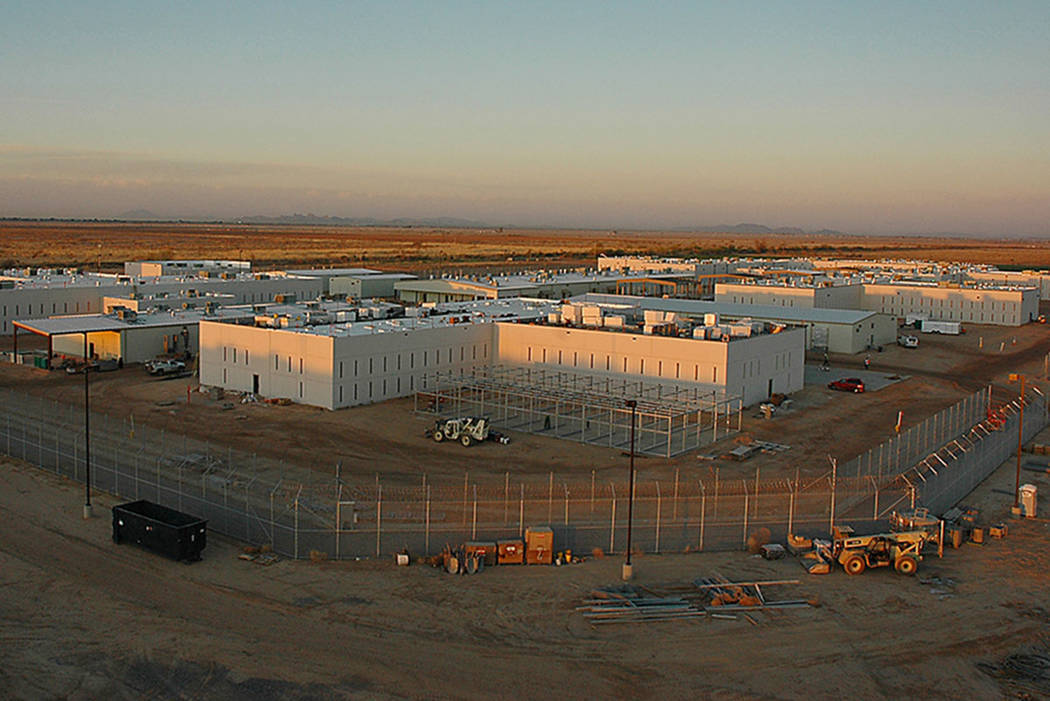 Special to the Pahrump Valley Times The Nevada Southern Detention Center in Pahrump could house detainees for the U.S. Immigration and Customs Enforcement's Salt Lake City operations. CoreCivic ...