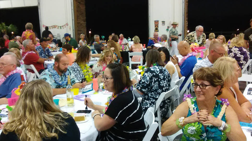 Selwyn Harris/Pahrump Valley Times CASA fundraisers are regularly attended by large crowds of supporters, such as the group shown attending the organization's luau event in this 2017 file photo. O ...