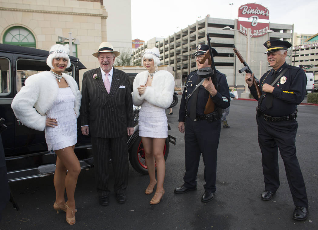 Samantha Clemens/Las Vegas Review-Journal An example of 1920s attire is shown as participants gather for a Roaring 20s party held in Southern Nevada earlier this decade. Former Las Vegas Mayor Osc ...