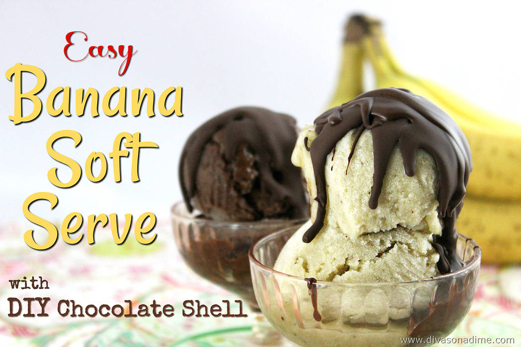 Patti Diamond/Special to the Pahrump Valley Times Banana soft serve is a frozen treat that's dairy free, gluten free, fat free, no added sugar, raw and vegan. Totally good for you and very versa ...