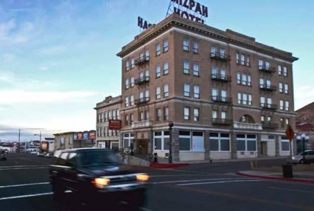 Randi Lynn Beach/Las Vegas Review-Journal The exterior of the Mizpah Hotel in Tonopah is seen in 2016.