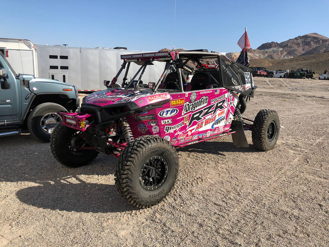 Tom Rysinski/Pahrump Valley Times Off-road racing vehicles gathered Saturday morning near Beatty for the start of the General Tire Vegas to Reno race, billed as the longest such race in North America.