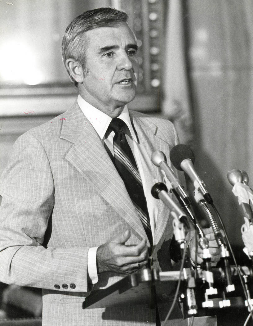 File photo/Las Vegas Review-Journal Paul Laxalt on January 13, 1983