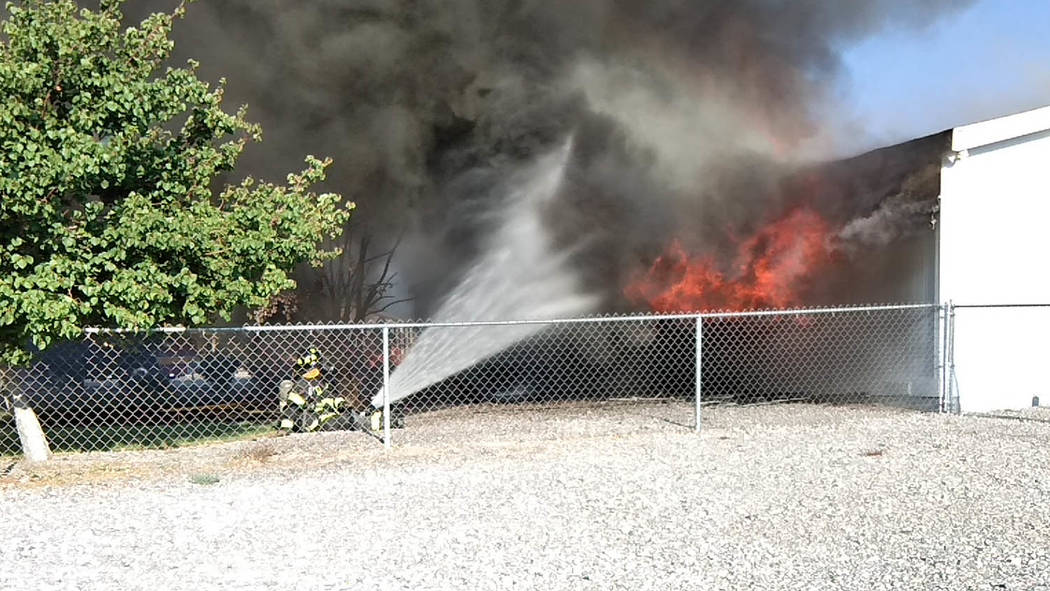 Selwyn Harris/Pahrump Valley Times Pahrump Fire Chief Scott Lewis said the improper disposal of smoking materials was the cause of last Tuesday's structure fire on East Paiute Boulevard. The home ...