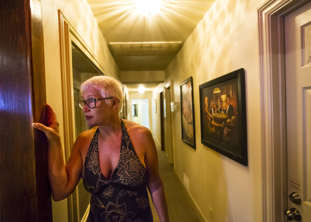 "Sonja Bandolik, the "" Madam on the Menu,"" stands in a hallway at the Love Ranch brothel in Crystal, just north of Pahrump, on Friday, July 20, 2018. Chase Stevens Las Vegas Review-Journa ..."
