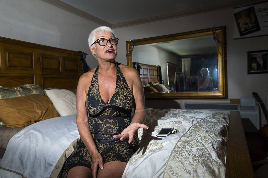 "Sonja Bandolik, the "" Madam on the Menu,"" talks in her room at the Love Ranch brothel in Crystal, just north of Pahrump, on Friday, July 20, 2018. Chase Stevens Las Vegas Review-Journal ..."