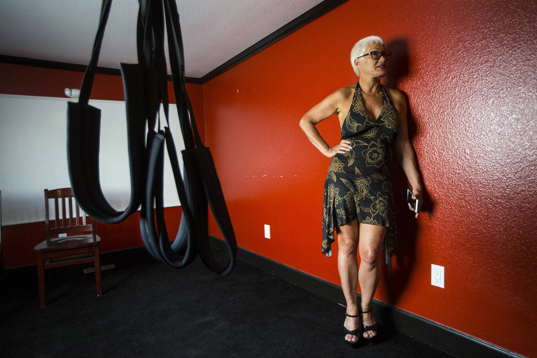 "Sonja Bandolik, the "" Madam on the Menu,"" talks about the bondage and discipline room at the Love Ranch brothel in Crystal, just north of Pahrump, on Friday, July 20, 2018. Chase Stevens Las Vegas ..."