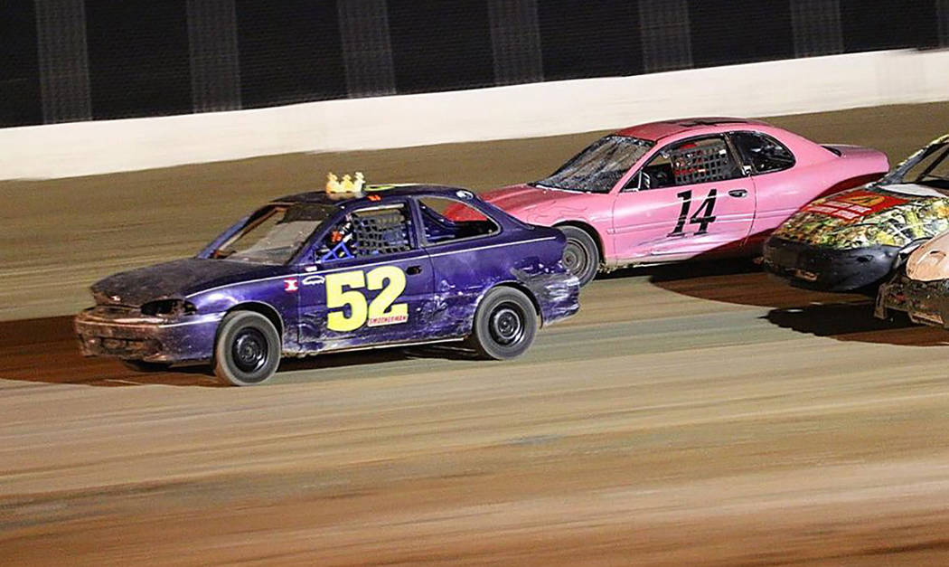 Rob Street Racing Photography/Special to the Pahrump Valley Times R.J. Smotherman in Car No. 52 won the Mini Stock race Saturday night at Pahrump Valley Speedway.