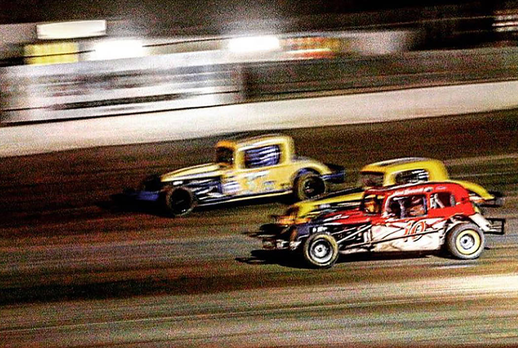 Rob Street Racing Photography/Special to the Pahrump Valley Times Robert Smotherman won the Coupe division race in Car No. 10 on Saturday night at Pahrump Valley Speedway.
