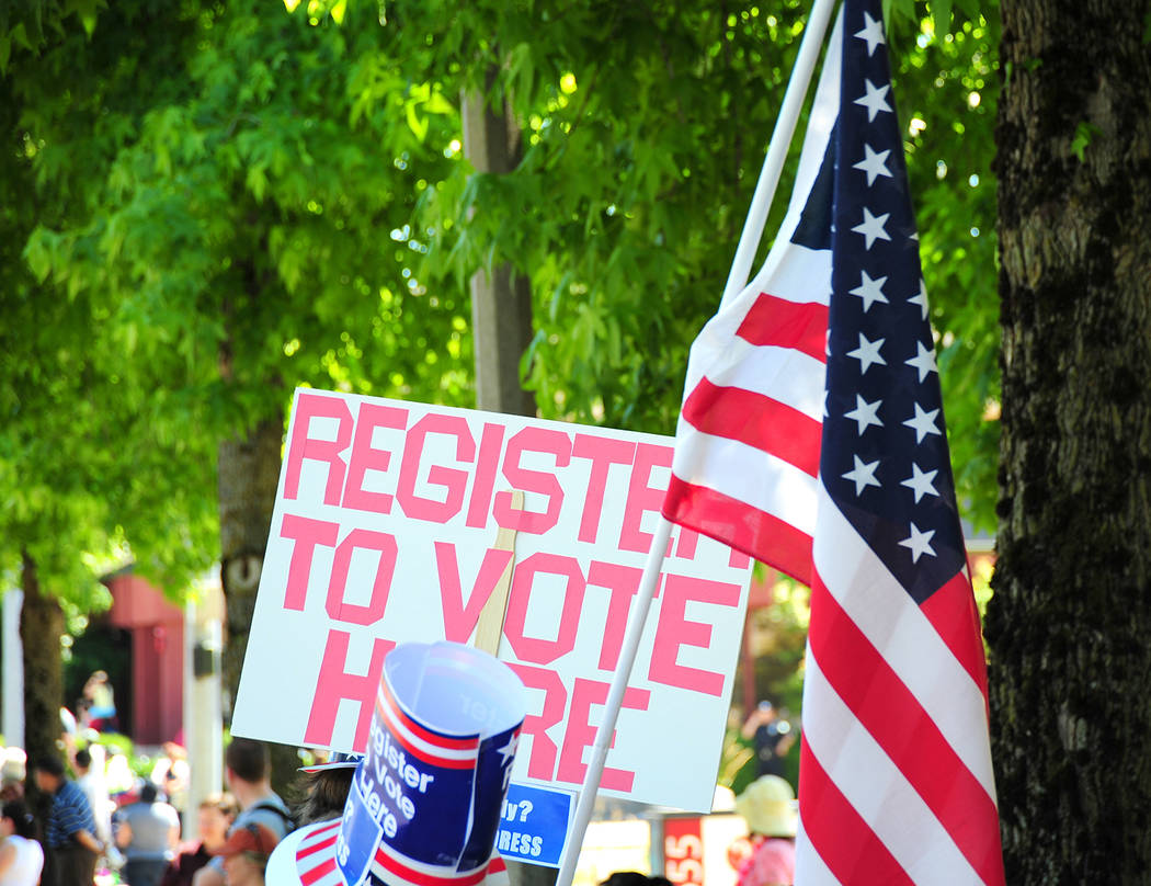 Thinkstock The Nye County Clerk's Office has released a statement involving voter registration efforts.