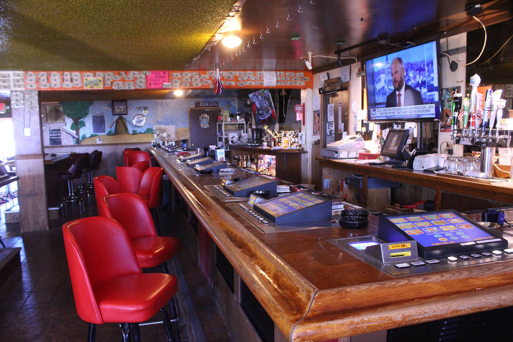 Jeffrey Meehan/Pahrump Valley Times Sullivan's Pub at 2450 W. Mesquite Ave. has several new flat-screen TVs behind the bar. The pub is going through a major renovation, but it will stay open durin ...