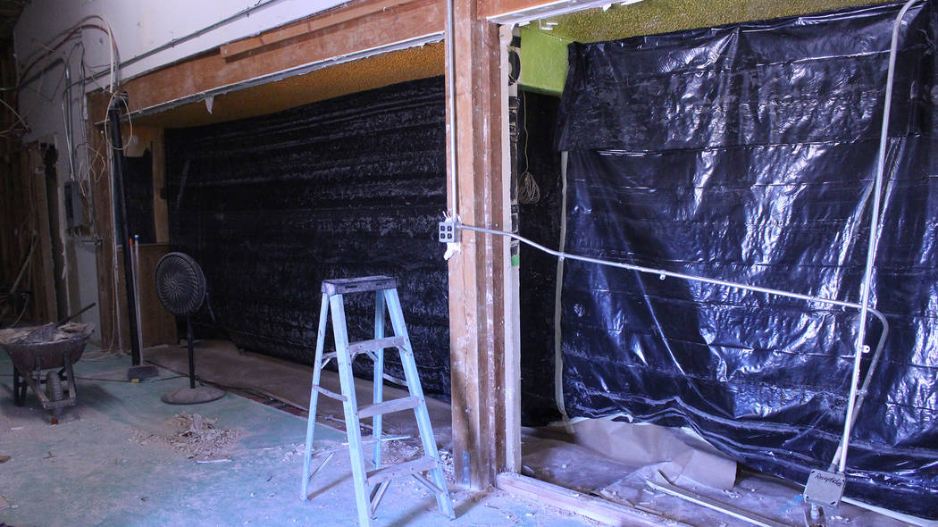 Jeffrey Meehan/Pahrump Valley Times A wall was taken down at the end of August at Sullivan's Pub in Pahrump. The removal was just part of a more than $200,000 renovation project at the pub.
