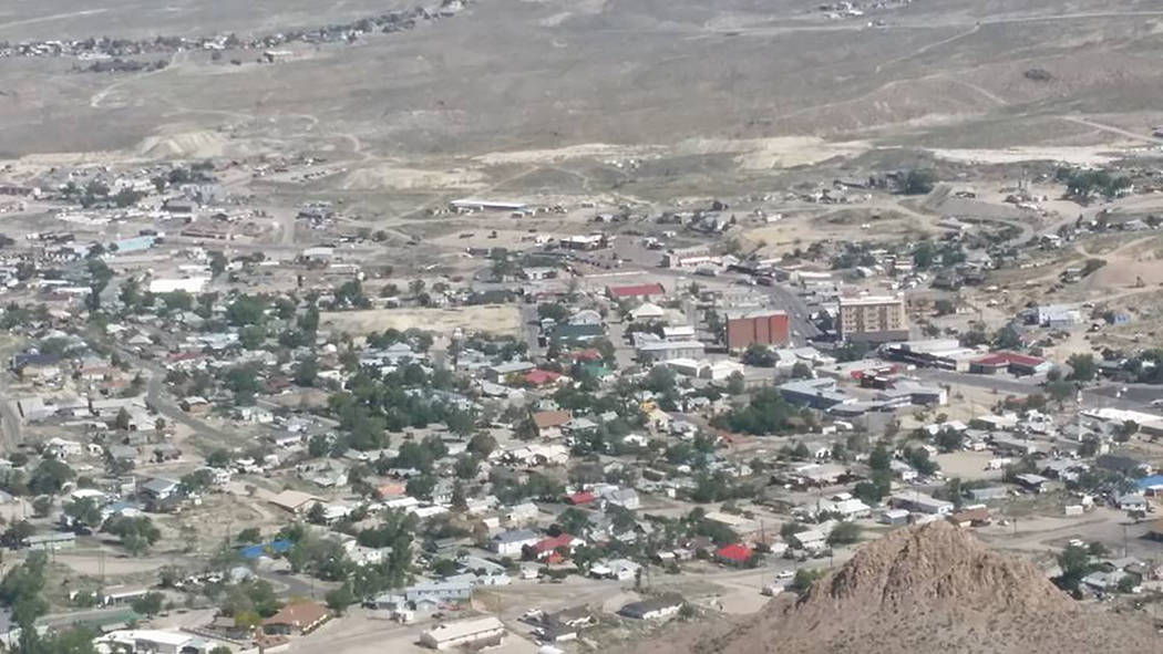 David Jacobs/Pahrump Valley Times A look at Tonopah from Mount Brock in 2016. Overall, the legislation works to promote innovation, technological solutions and economic development in Nevada's r ...