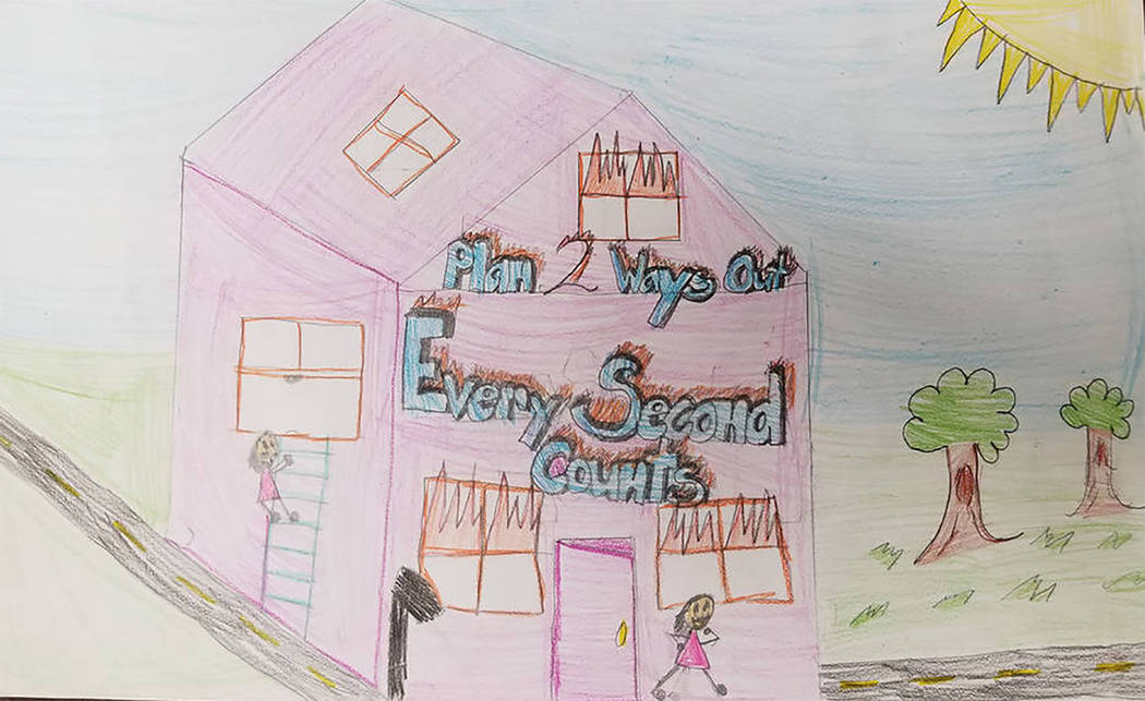 Selwyn Harris/Pahrump Valley Times Last year, Pahrump's Hafen Elementary fifth grader Angelina Valdez earned top honors for the state's 2017 Fire Prevention Week Poster Contest. Valdez said it to ...