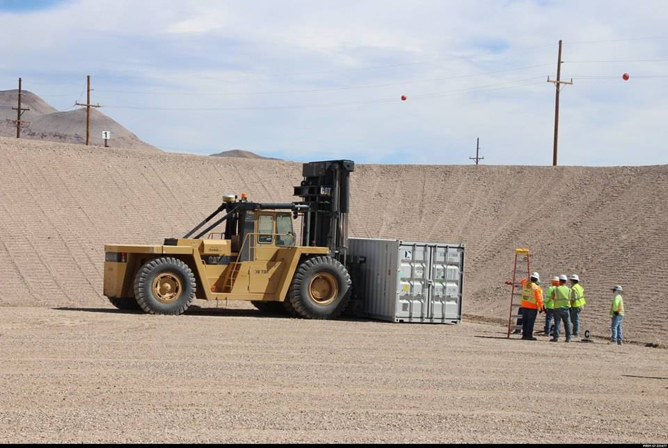 Special to the Pahrump Valley Times/U.S. Department of Energy A new mixed low-level disposal cell at the Nevada National Security Site received its first shipment of waste in August. The cell was ...