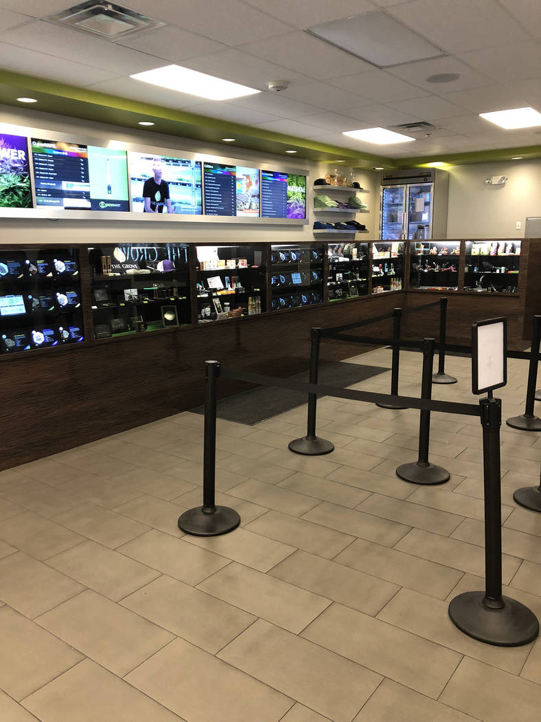 Special to the Pahrump Valley Times Aside from marijuana buds, the Grove dispensary offers a variety of products including marijuana-infused edibles and pot smoking accessories at Pahrump's 1541 E ...