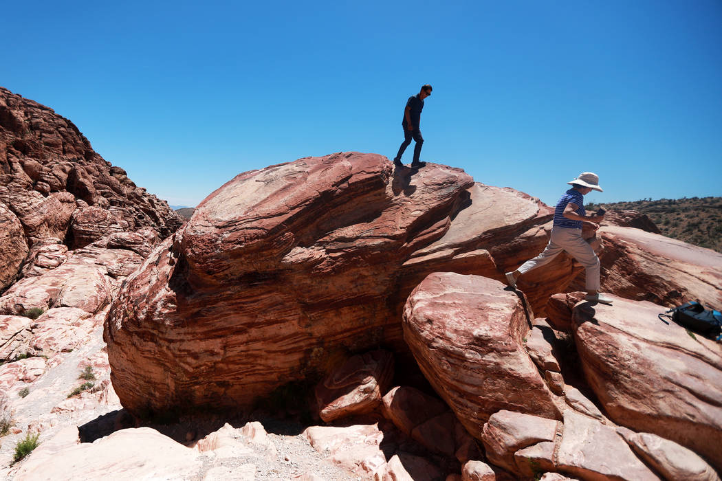 Andrea Cornejo/Las Vegas Review-Journal Cooler temperatures during the fall and winter months make Red Rock Canyon a destination for visitors from around the world, the U.S. Bureau of Land Managem ...