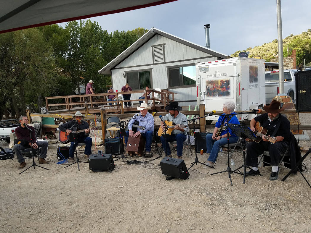 David Jacobs/Times-Bonanza & Goldfield News Here's a look at the 2016 festivities in the historic Nevada community of Belmont. This photo shows a musical performance featuring the Peavine Pickers, ...
