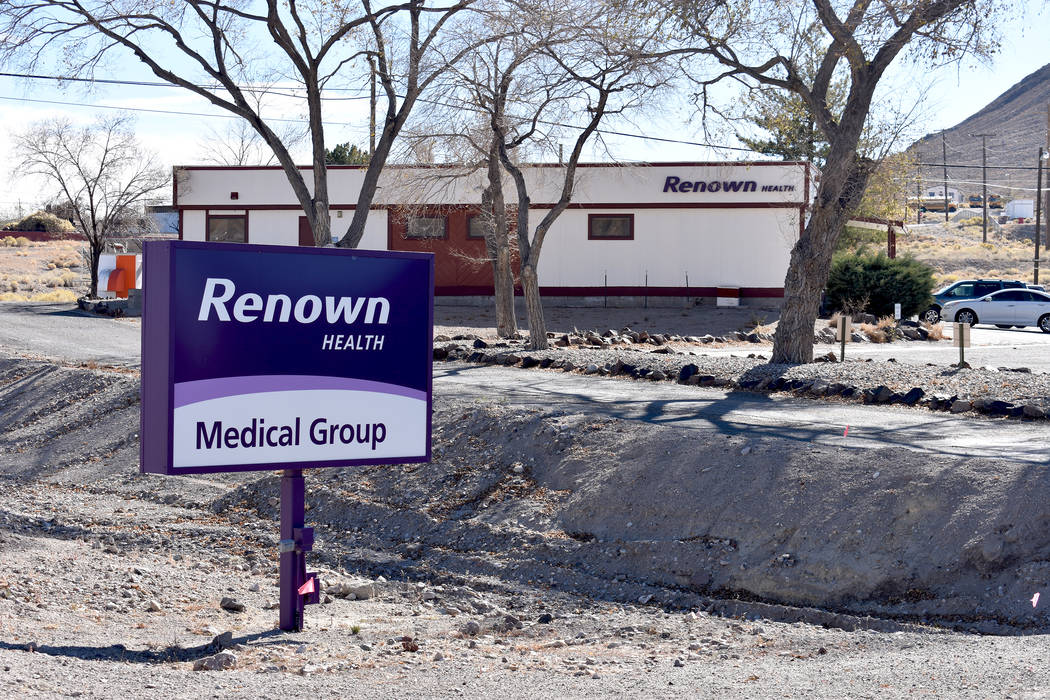 Daria Sokolova/Pahrump Valley Times A look at Renown Health in Tonopah as shown in a 2017 photo. Nye Regional Medical Center closed its doors in 2015 due to financial woes, leaving Tonopah residen ...