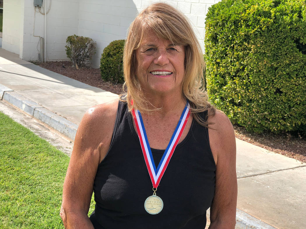Tom Rysinski/Pahrump Valley Times Cathy Behrens won a gold medal last year, her first competing in the Nevada Senior Games, and will compete in two events this year.