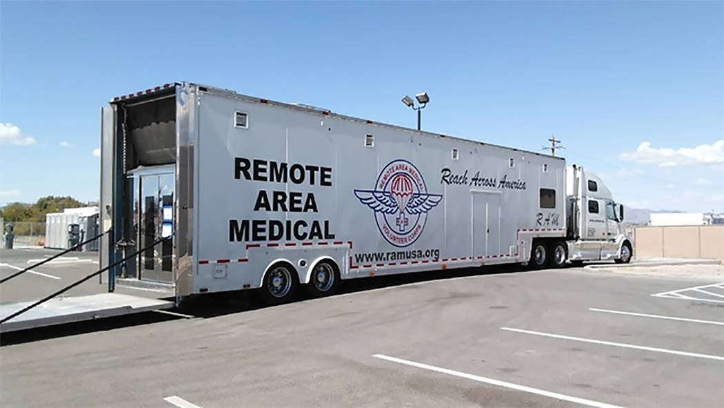 Selwyn Harris/Pahrump Valley Times Local residents in need of quality medical care performed by teams of doctors and physicians arrives back in Pahrump next month, courtesy of the Remote Area Medi ...