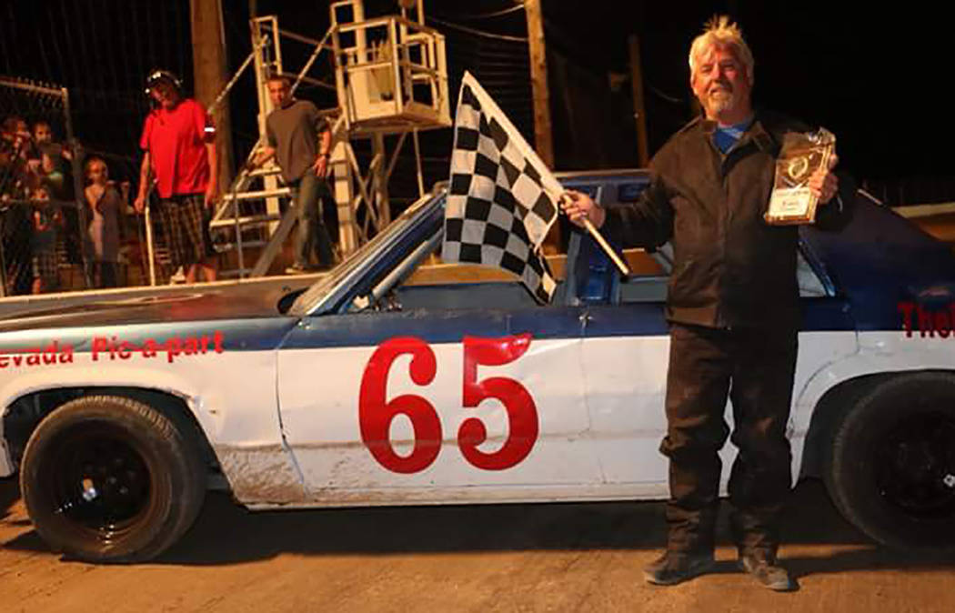 Rob Street Racing Photography/Special to the Pahrump Valley Times Gary Wyatt ended a rough stretch and returned to Victory Lane on Saturday night, winning the Bomber division feature at Pahrump Va ...