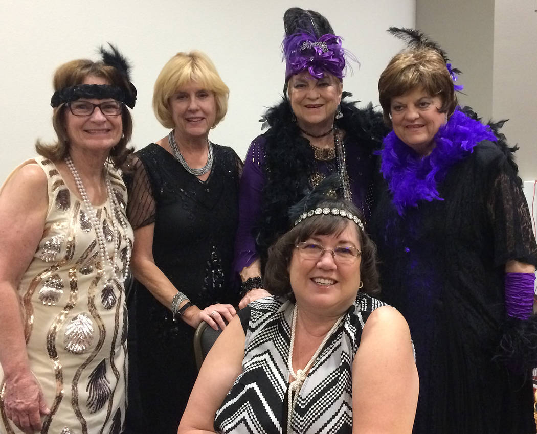 Robin Hebrock/Pahrump Valley Times CASA volunteers were out in force for the nonprofit's most recent fundraiser, all dressed in the event's 1920s theme with feathers, sequins and headpieces adding ...