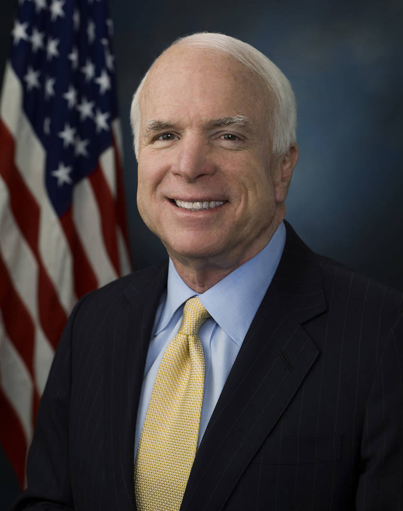 Office of U.S. Sen. John McCain U.S. Sen. John McCain died last month at age 82.