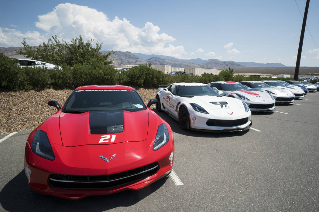 Sports cars photographed at Spring Mountain Motor Resort and Country Club in Pahrump, Wednesday, Aug. 15, 2018. (Marcus Villagran/Las Vegas Review-Journal) @MarcusVillagran