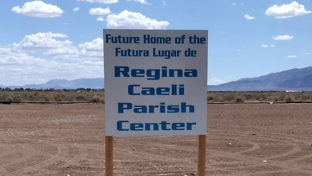 Selwyn Harris/Pahrump Valley Times Our Lady of the Valley church officials are gathering price etimates for the new addition, expected to be roughly 6500 square feet, with seven large rooms and mo ...