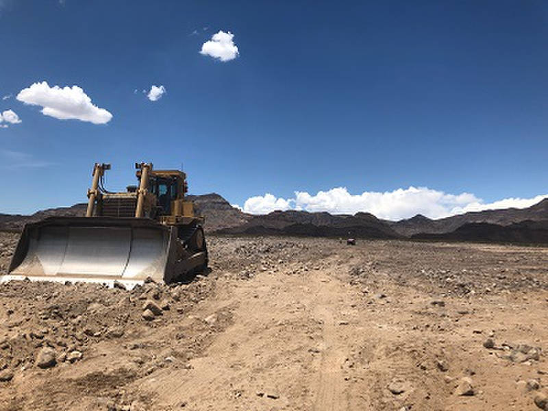 Special to the Pahrump Valley Times Crews clear an area of land near Boulder City for a new switching station, Sloan Canyon Switching Station. Gridliance, an independent transmission company, is b ...