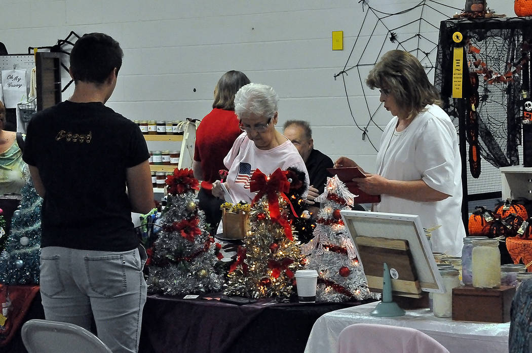 """Horace Langford Jr./ Special to the Pahrump Valley Times A two-day long venue, """"Spooky Jingles Art and Craft Show,"""" where artists displayed their wares also included several raffle prizes for tho ..."""