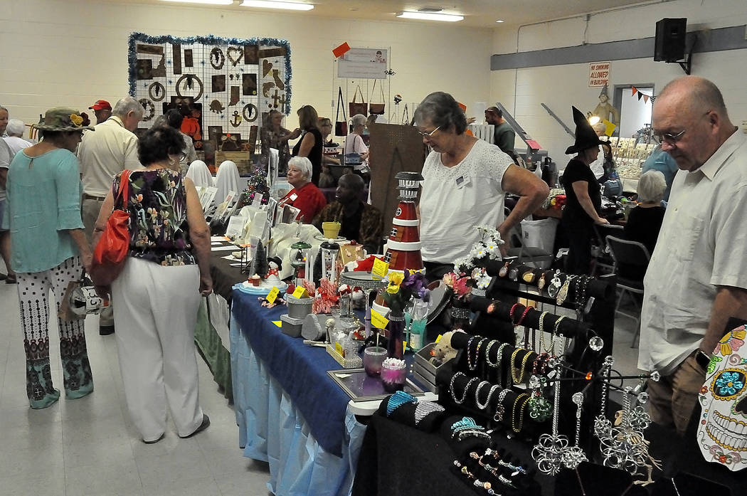 """Horace Langford Jr./ Special to the Pahrump Valley Times The """"Spooky Jingles Art and Craft Show"""" brought out several people in town to view works by local artists on Sept. 14-15 at the Bob Ruud C ..."""