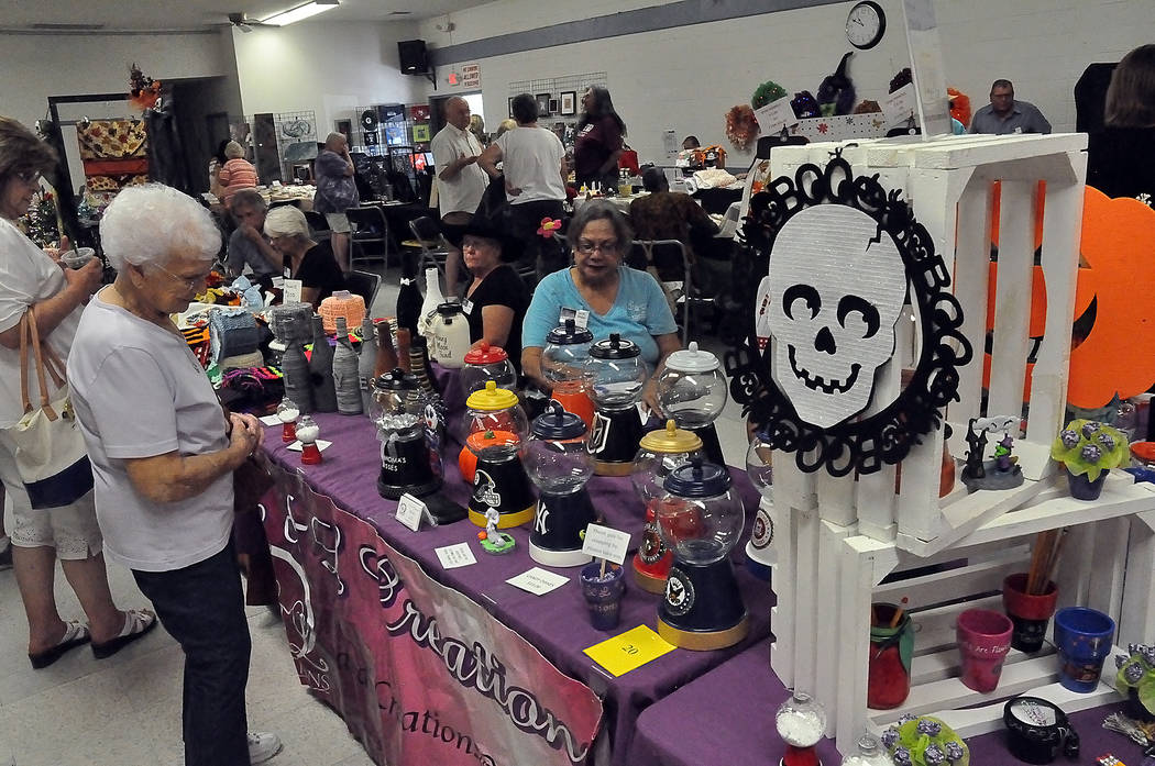 "Horace Langford Jr./ Special to the Pahrump Valley Times Local artisans gathered at the Bob Ruud Community Center on on Sept. 14-15 to display their wares at the ""Spooky Jingles Art and Craft Sho ..."